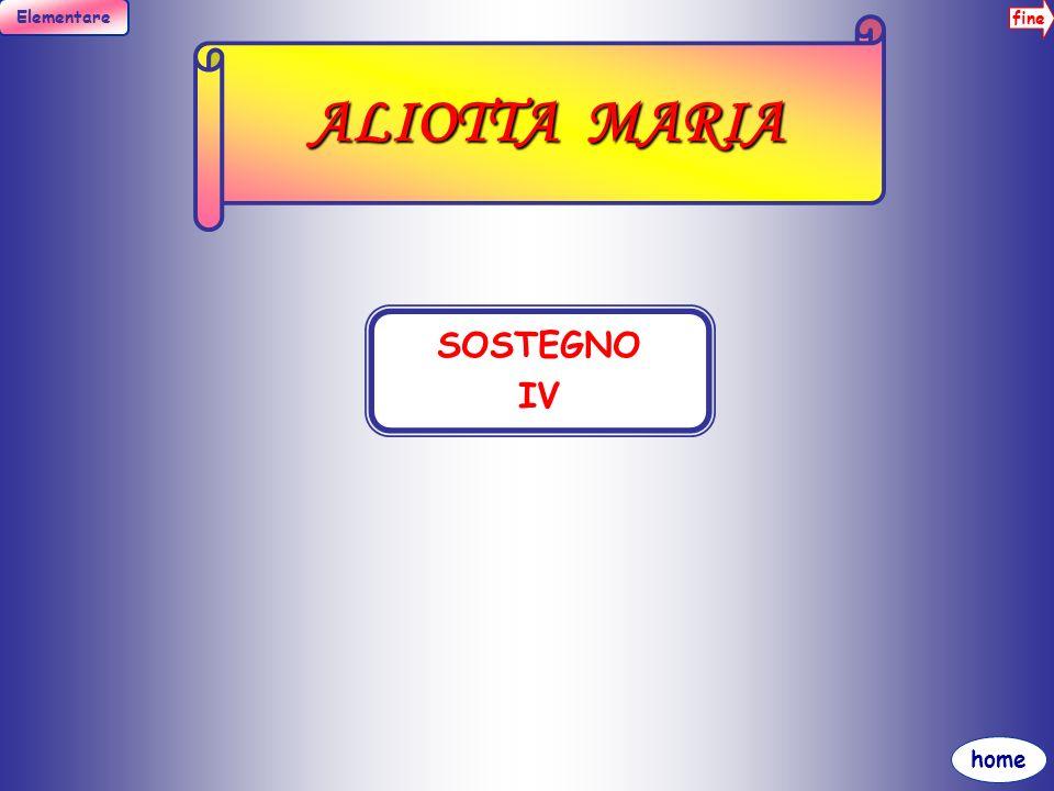 ALIOTTA MARIA SOSTEGNO IV