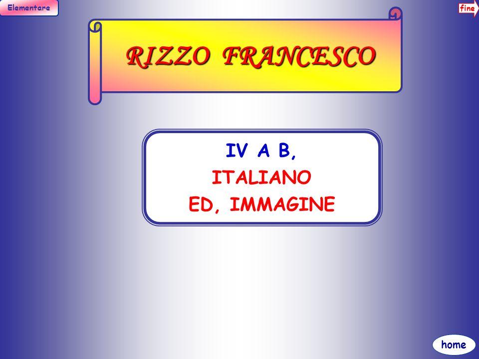 RIZZO FRANCESCO IV A B, ITALIANO ED, IMMAGINE