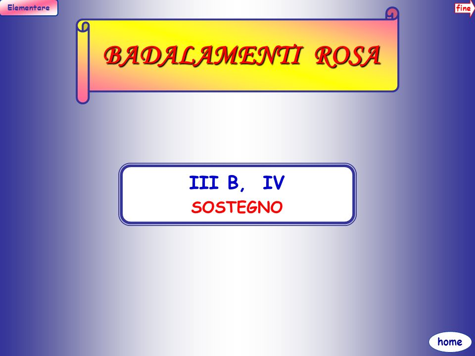 BADALAMENTI ROSA III B, IV SOSTEGNO