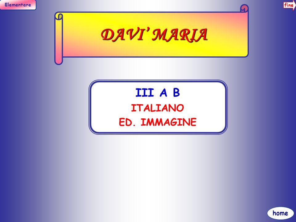 DAVI' MARIA III A B ITALIANO ED. IMMAGINE