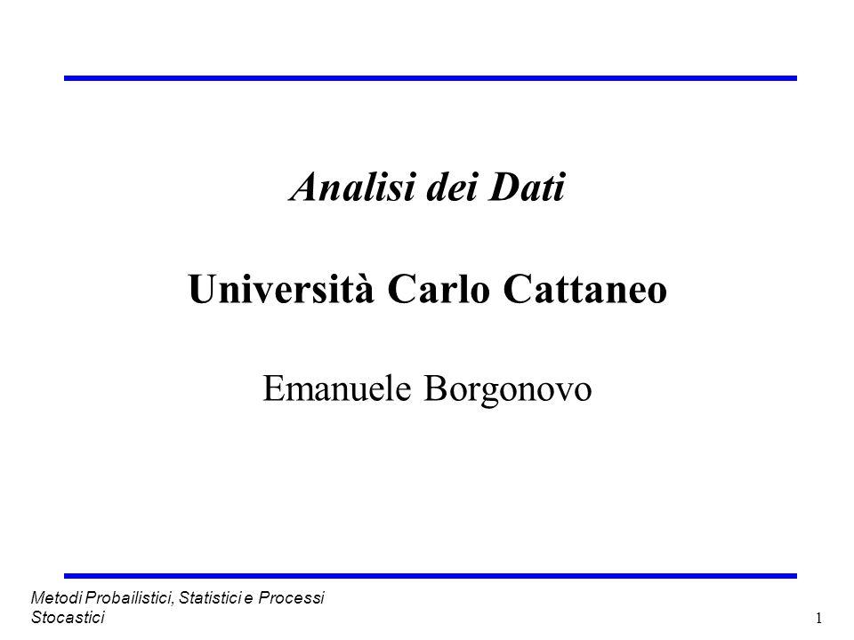 Analisi dei Dati Università Carlo Cattaneo Emanuele Borgonovo