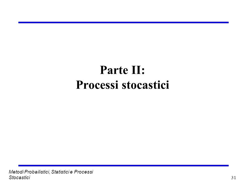 Parte II: Processi stocastici