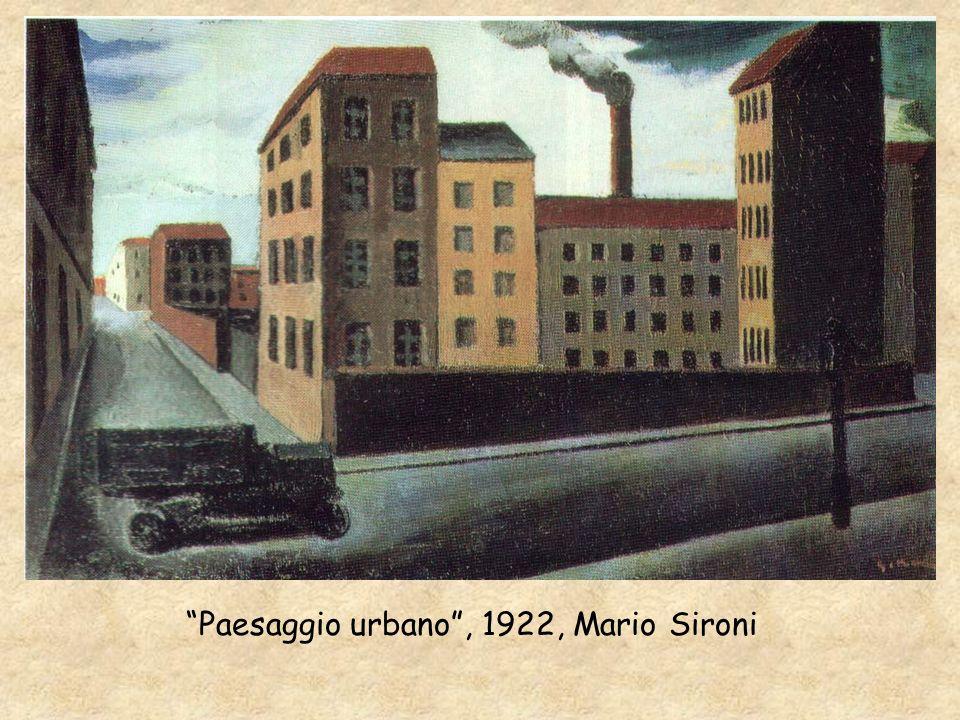 Paesaggio urbano , 1922, Mario Sironi