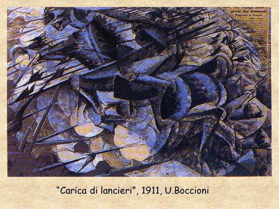 Carica di lancieri , 1911, U.Boccioni