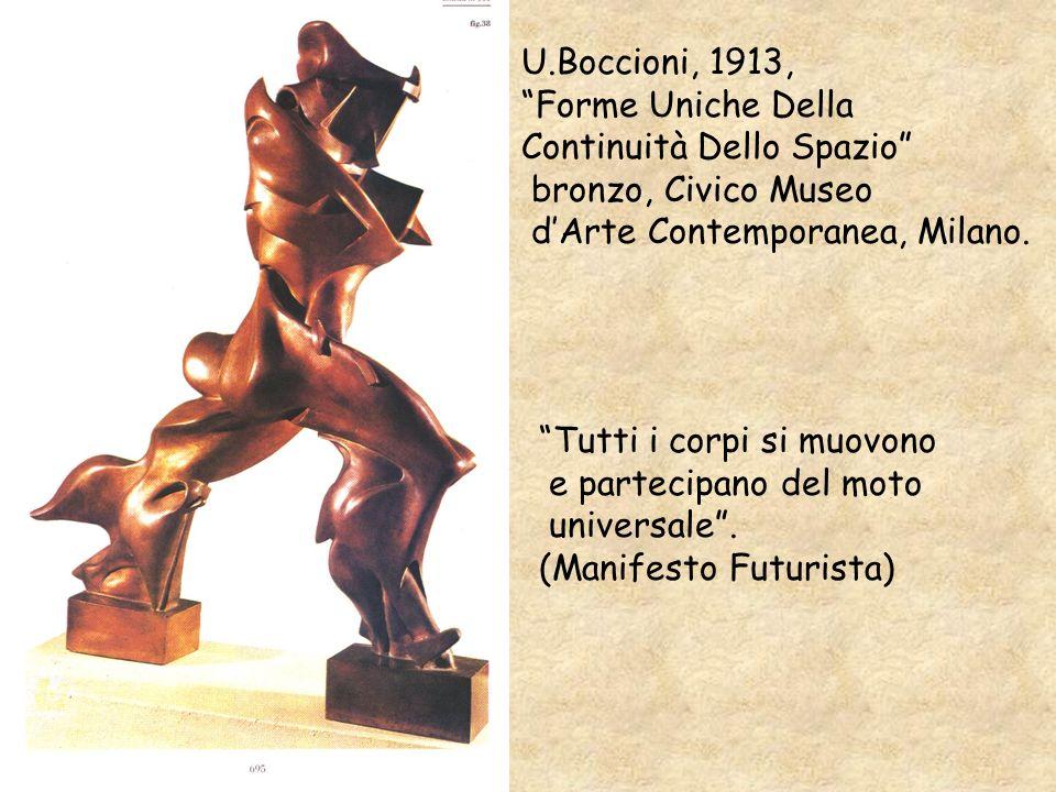 U.Boccioni, 1913, Forme Uniche Della. Continuità Dello Spazio bronzo, Civico Museo. d'Arte Contemporanea, Milano.