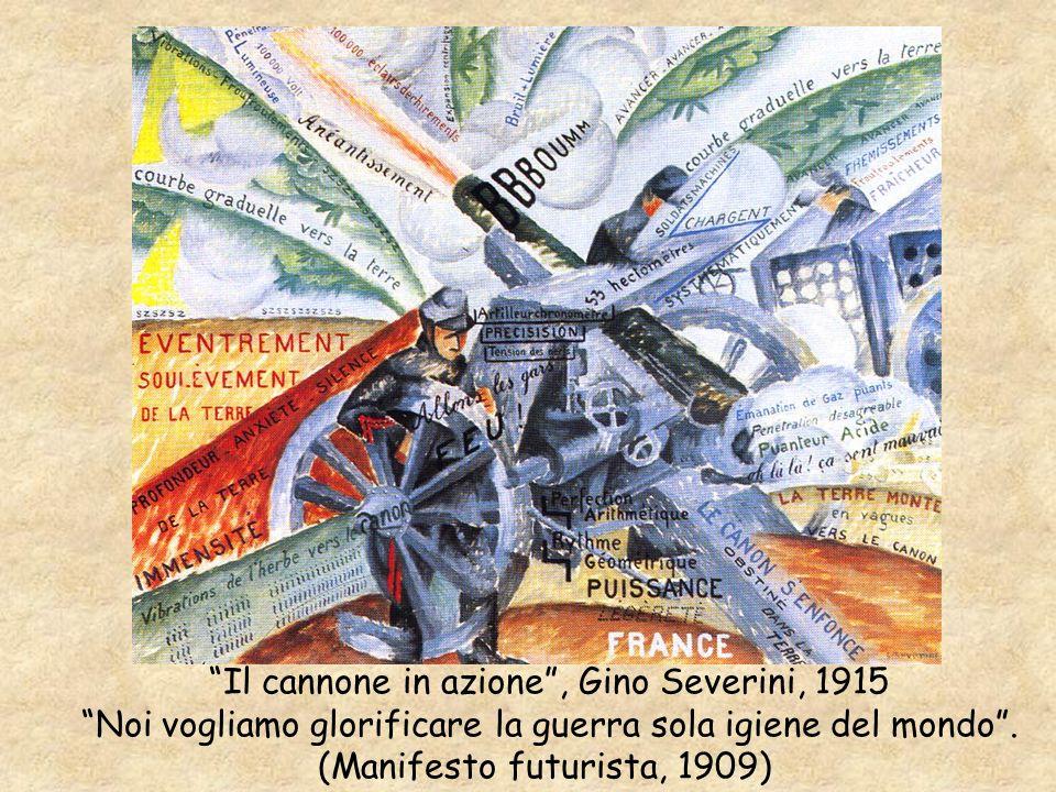 Il cannone in azione , Gino Severini, 1915