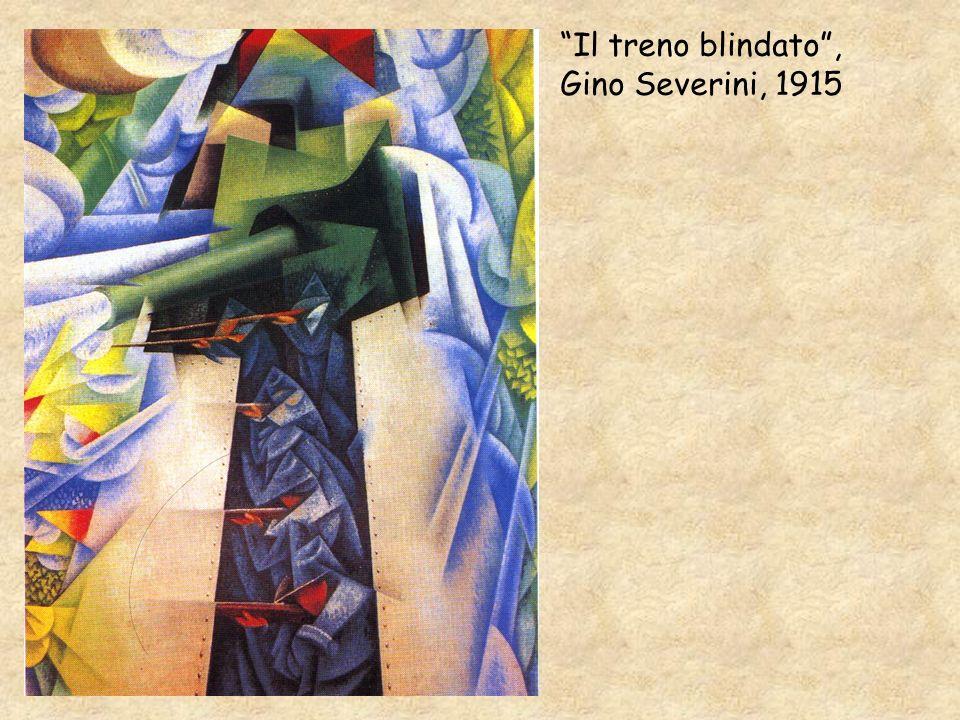 Il treno blindato , Gino Severini, 1915