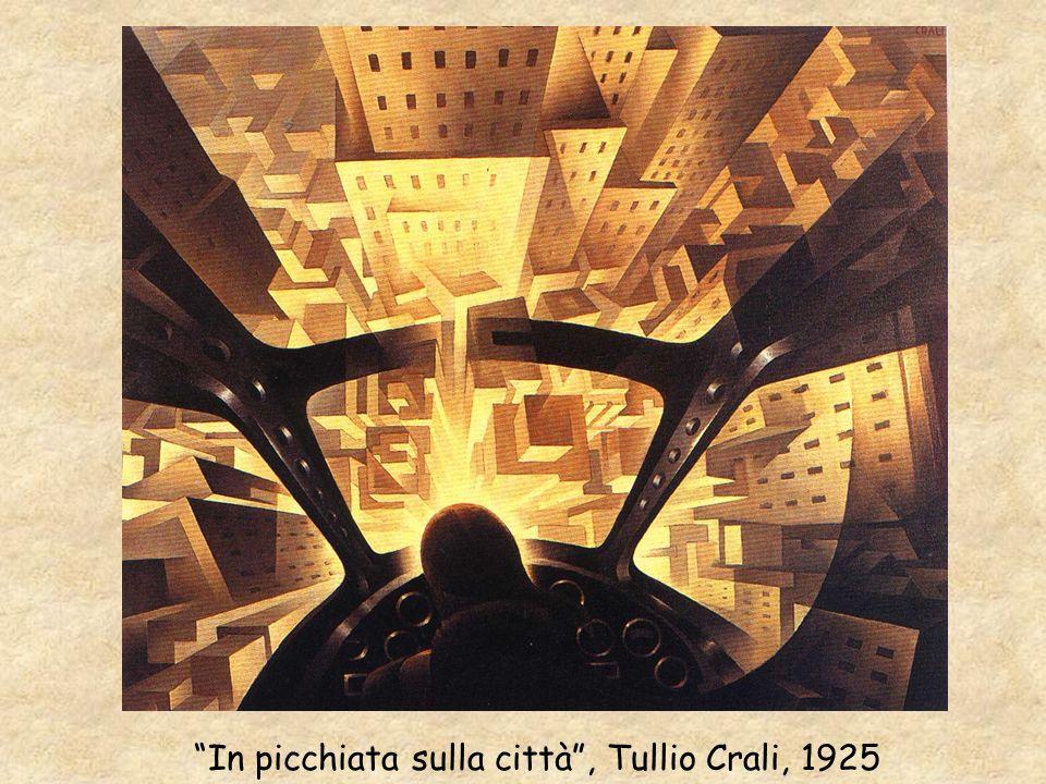 In picchiata sulla città , Tullio Crali, 1925