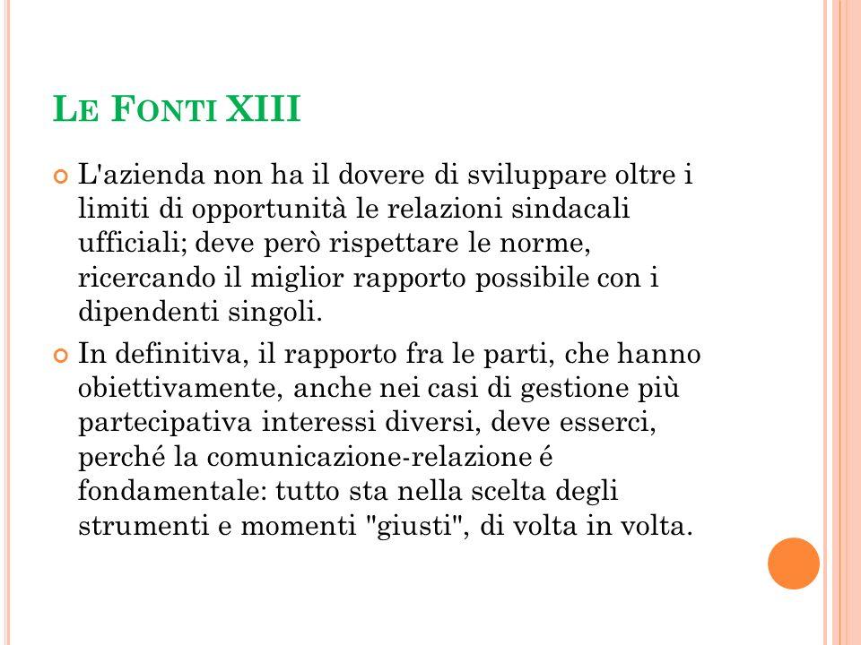 Le Fonti XIII