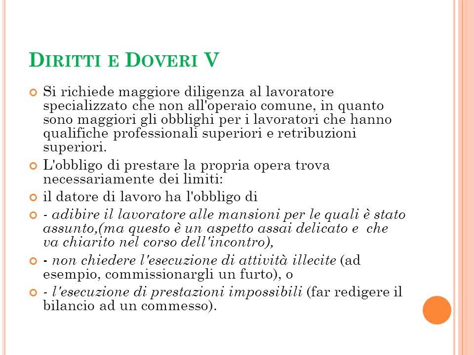 Diritti e Doveri V
