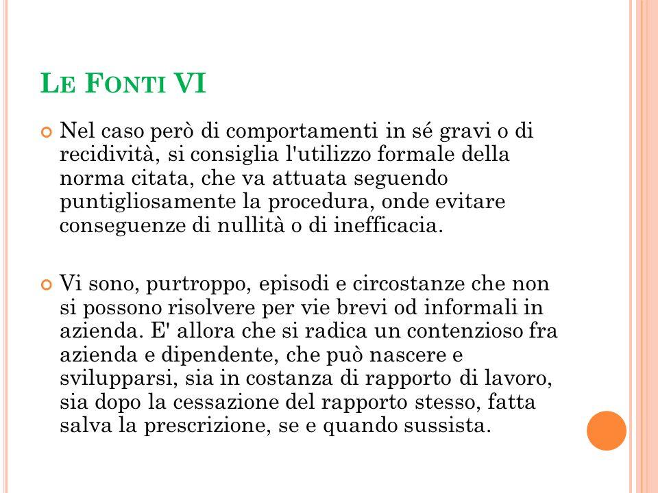 Le Fonti VI