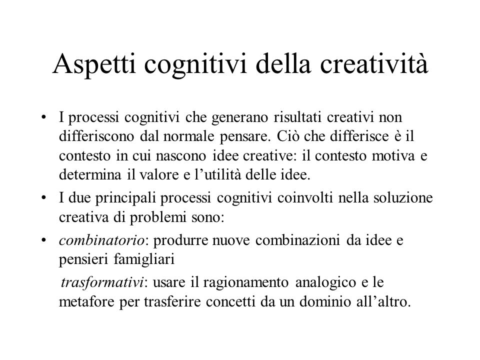 Aspetti cognitivi della creatività