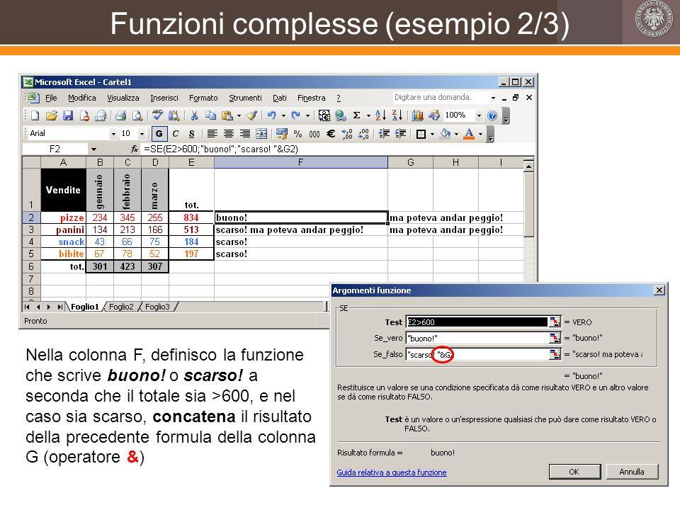 Funzioni complesse (esempio 2/3)