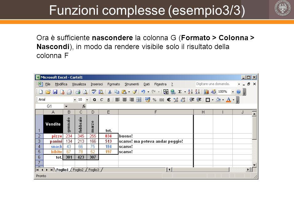 Funzioni complesse (esempio3/3)