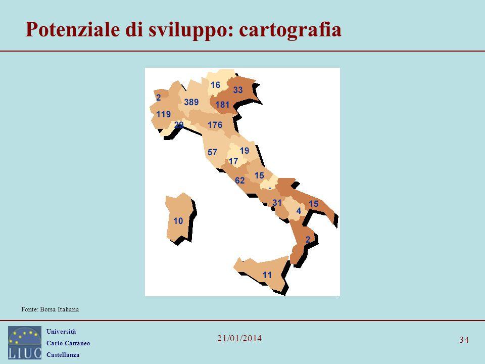 Potenziale di sviluppo: cartografia