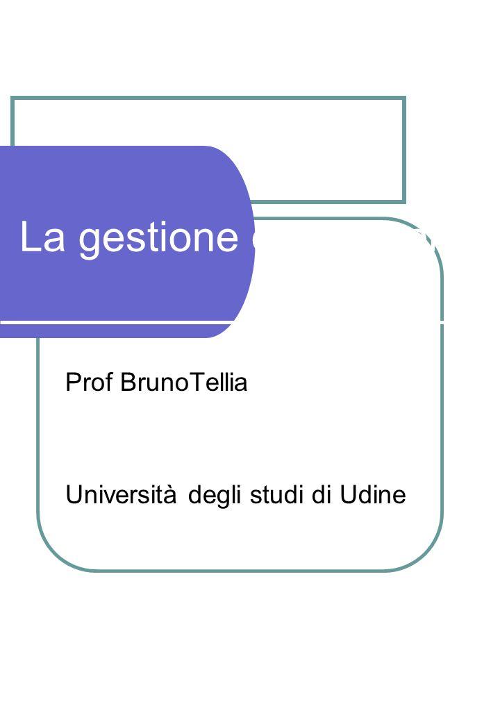 Prof BrunoTellia Università degli studi di Udine