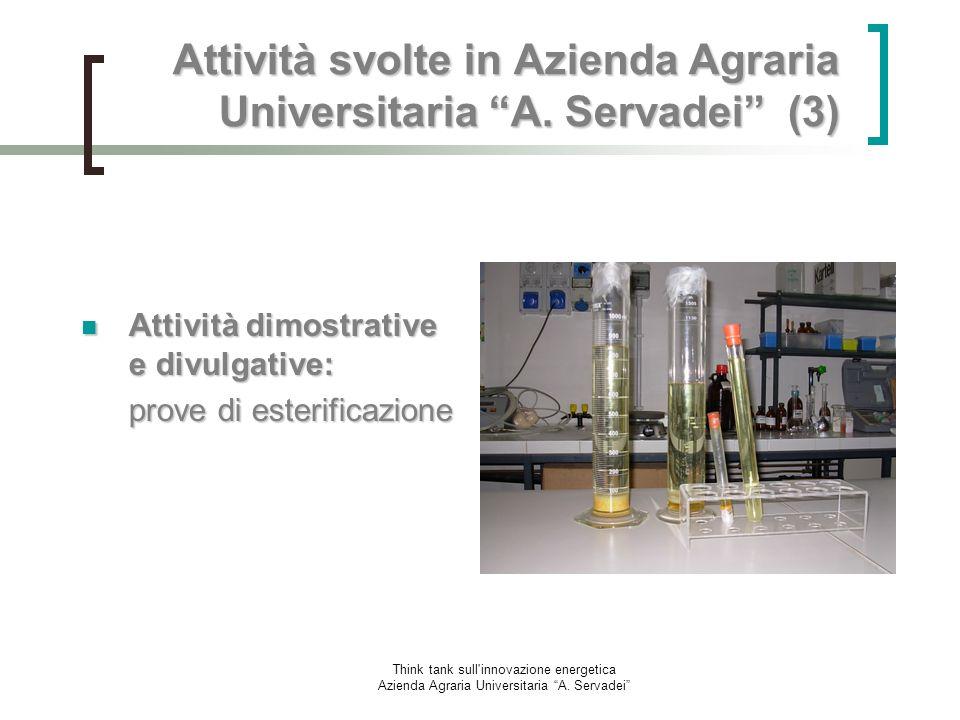 Attività svolte in Azienda Agraria Universitaria A. Servadei (3)