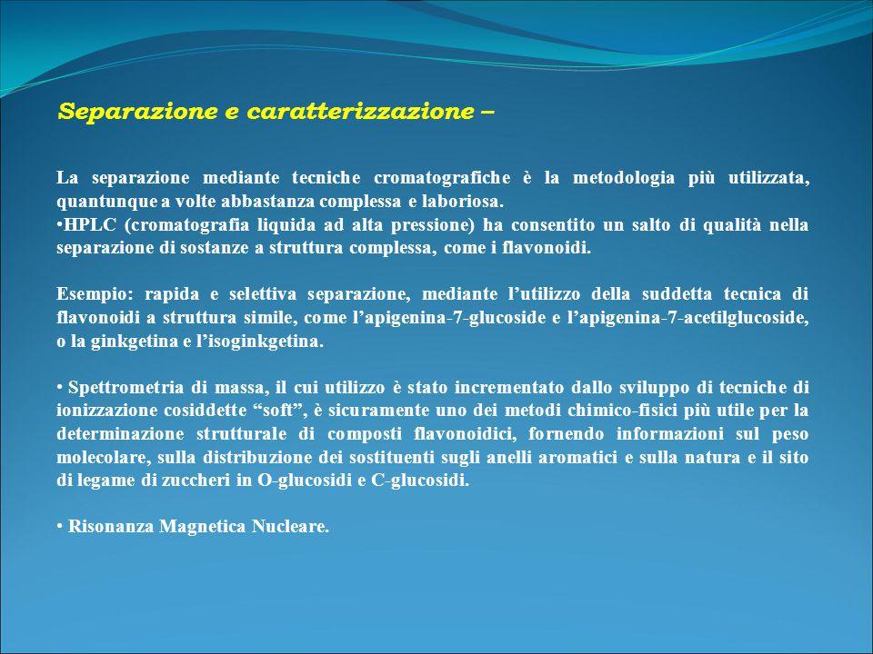 Separazione e caratterizzazione –
