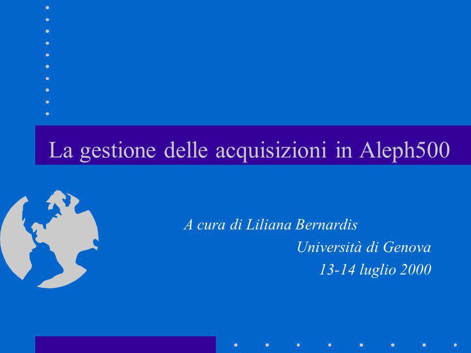La gestione delle acquisizioni in Aleph500