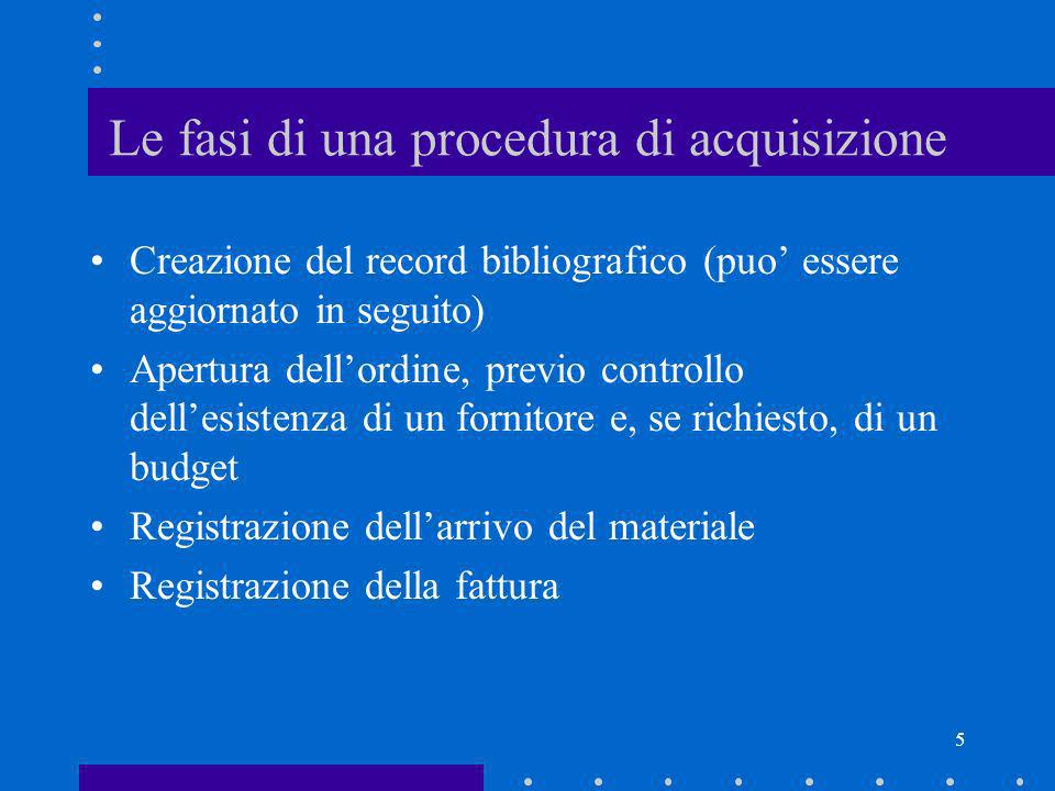 Le fasi di una procedura di acquisizione