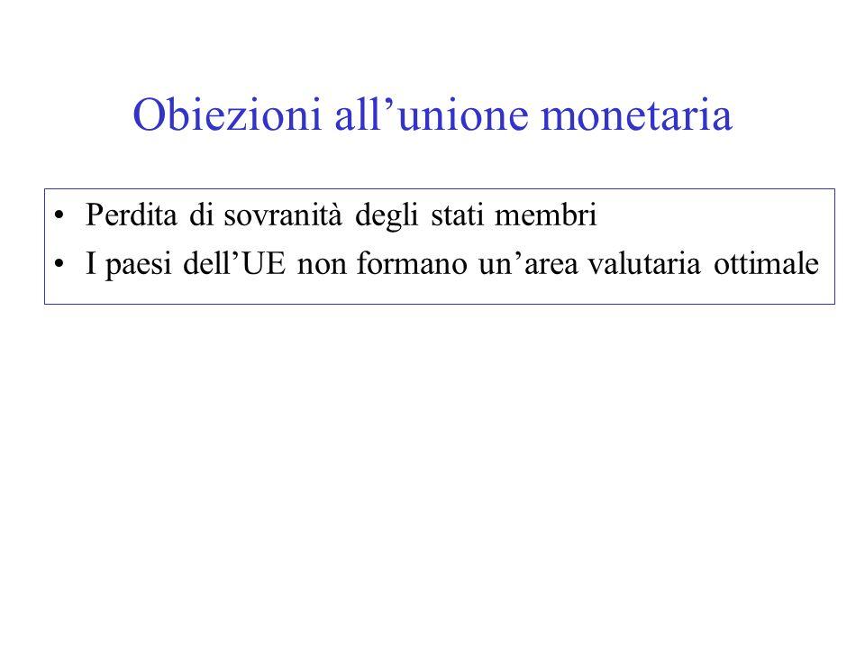 Obiezioni all'unione monetaria