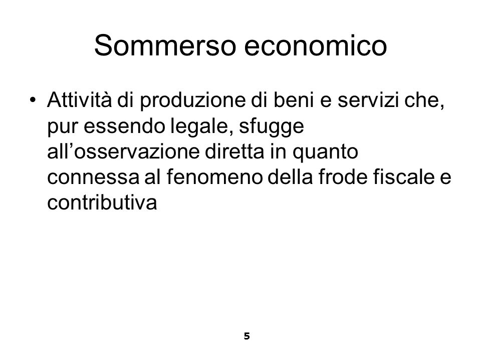 Sommerso economico