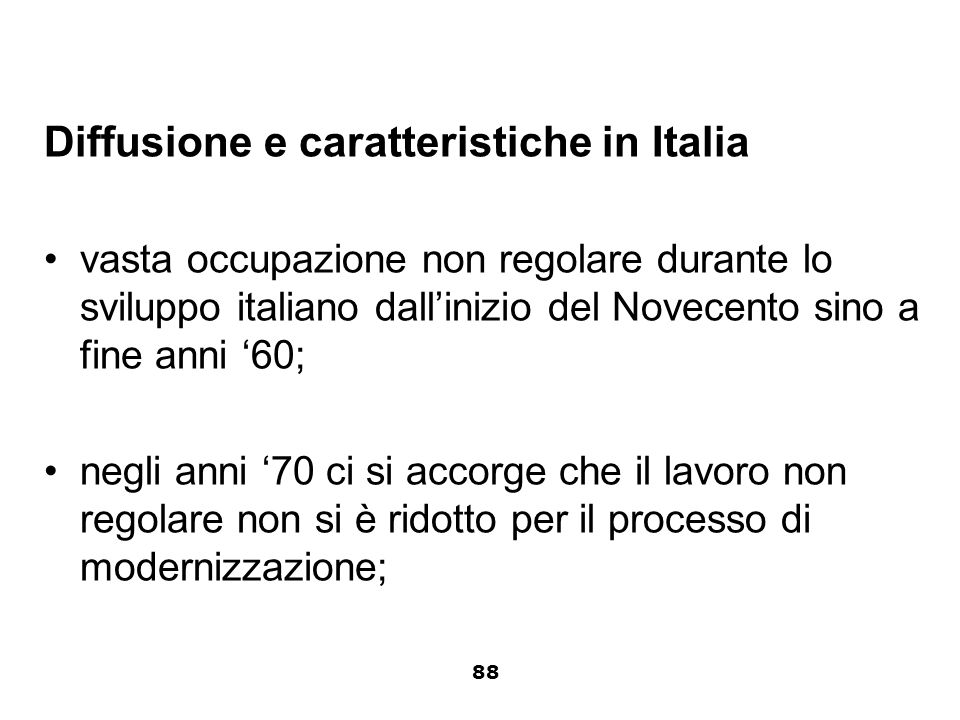 Diffusione e caratteristiche in Italia