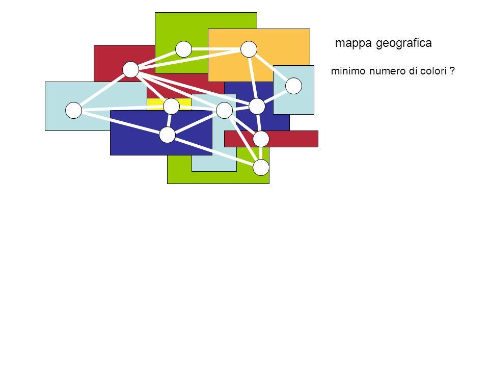 mappa geografica minimo numero di colori
