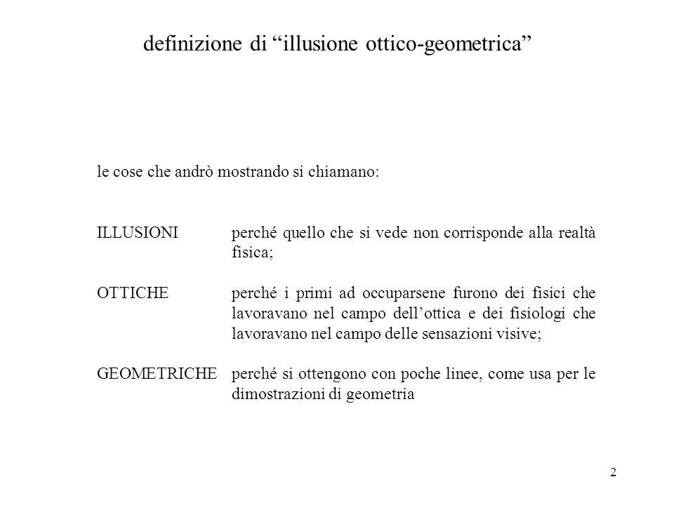 definizione di illusione ottico-geometrica