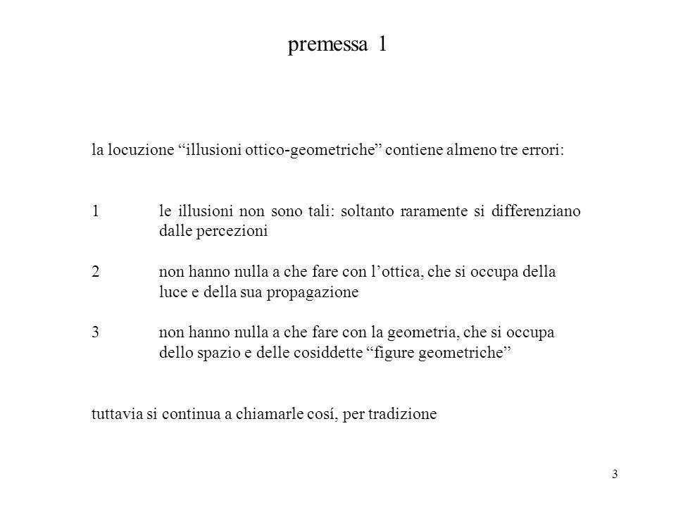 premessa 1 la locuzione illusioni ottico-geometriche contiene almeno tre errori: