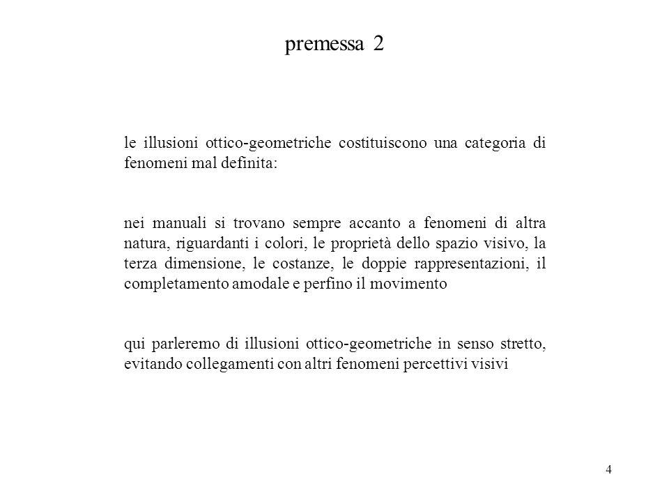 premessa 2 le illusioni ottico-geometriche costituiscono una categoria di fenomeni mal definita: