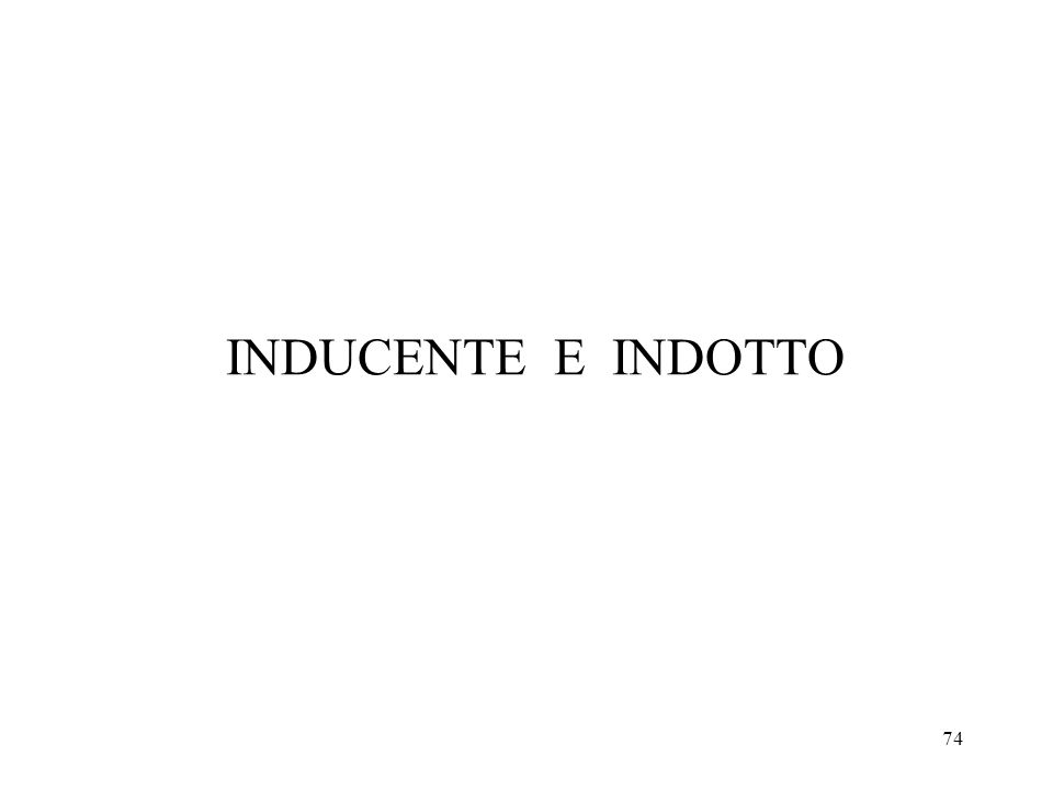 INDUCENTE E INDOTTO