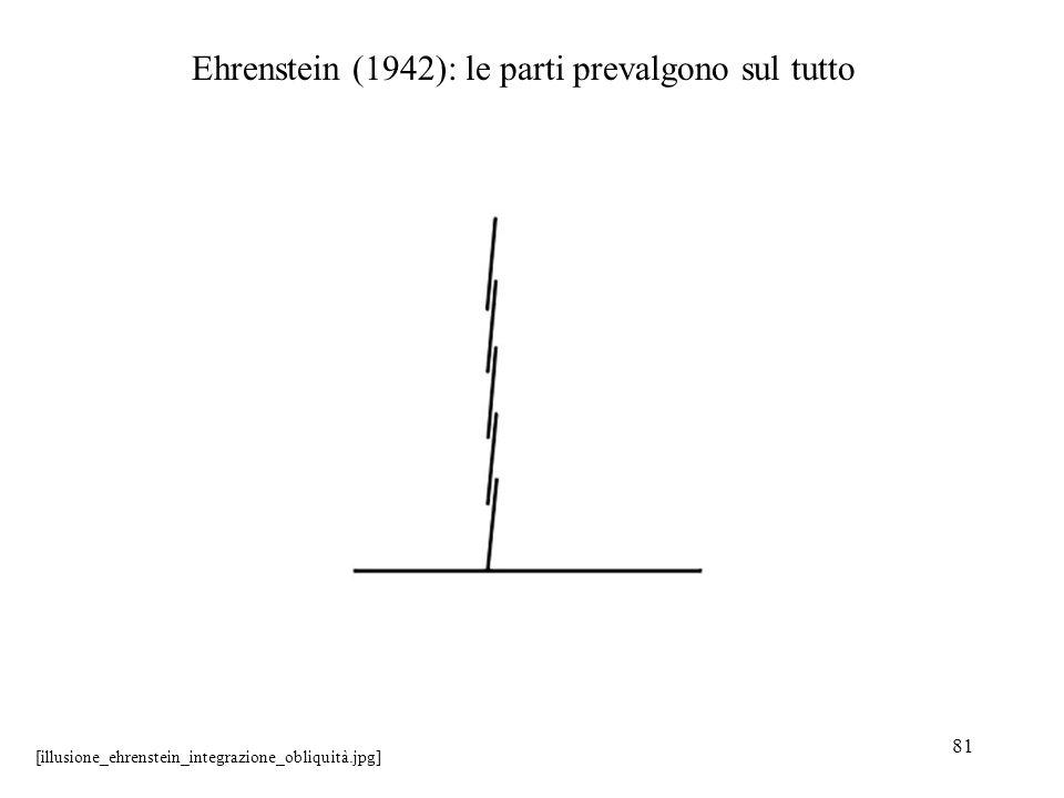 Ehrenstein (1942): le parti prevalgono sul tutto