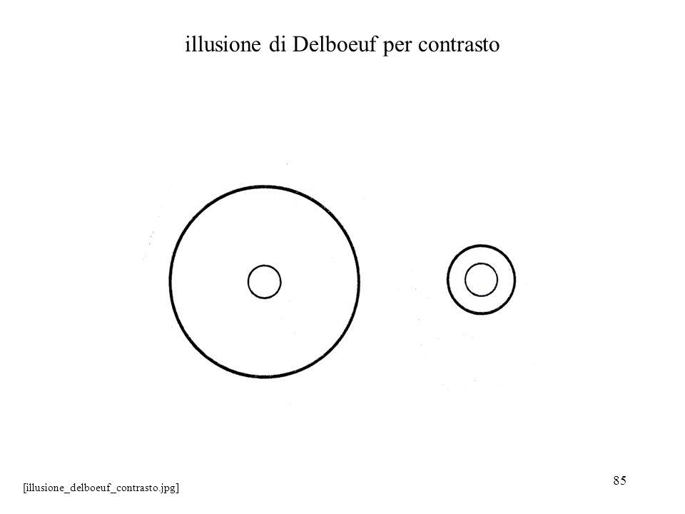 illusione di Delboeuf per contrasto