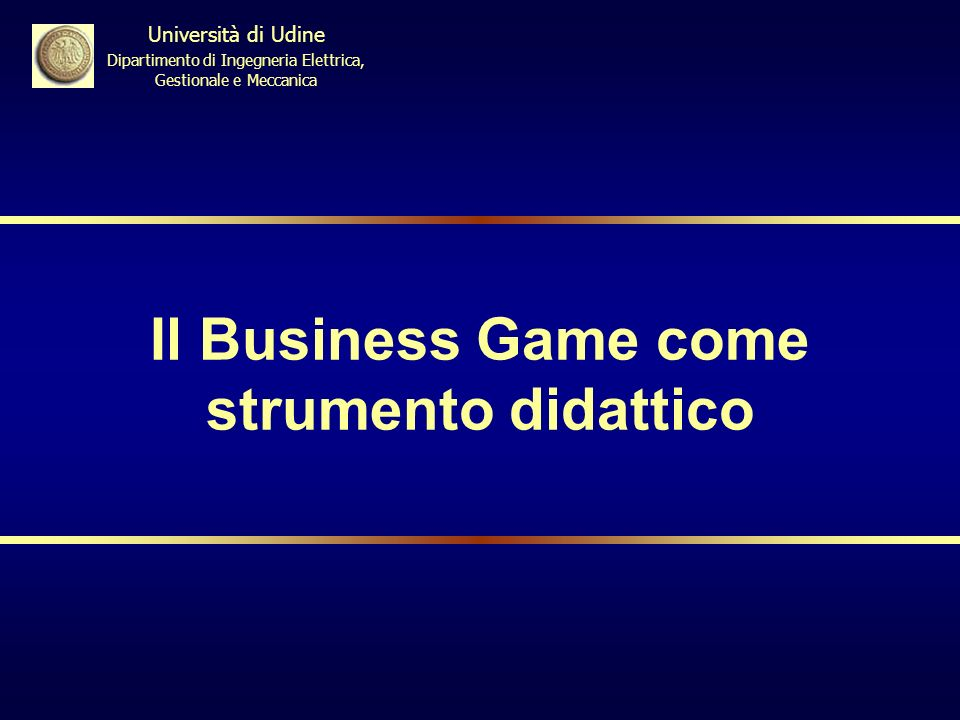 Il Business Game come strumento didattico