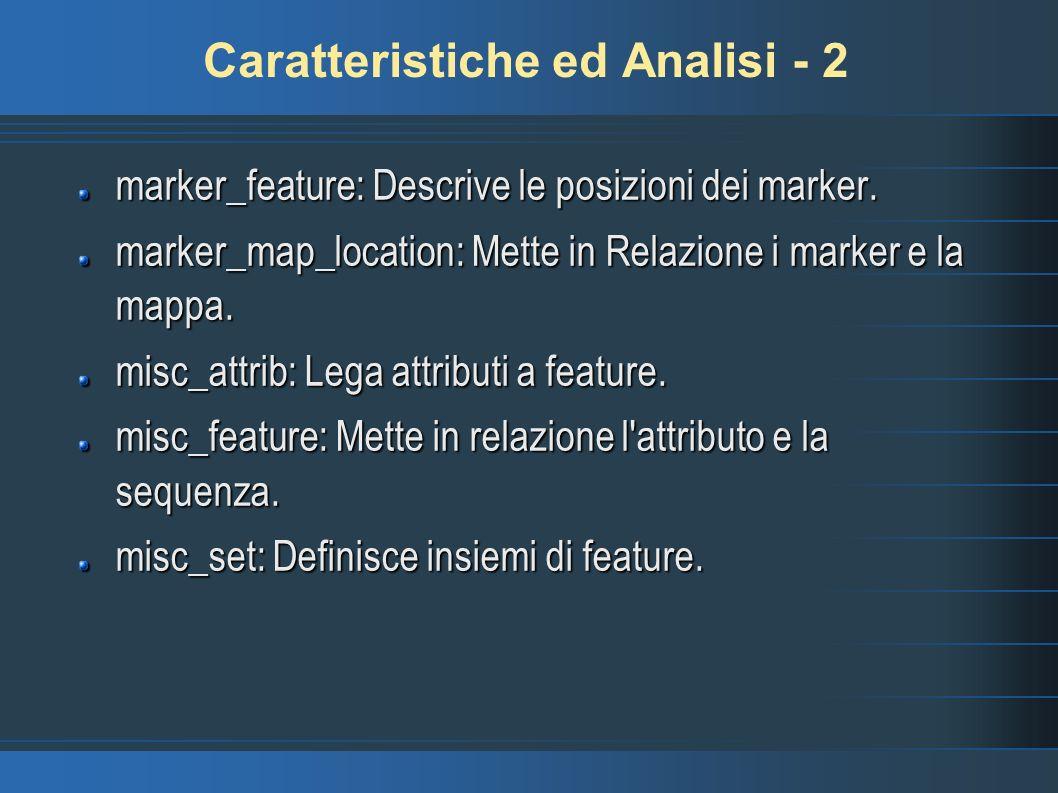 Caratteristiche ed Analisi - 2