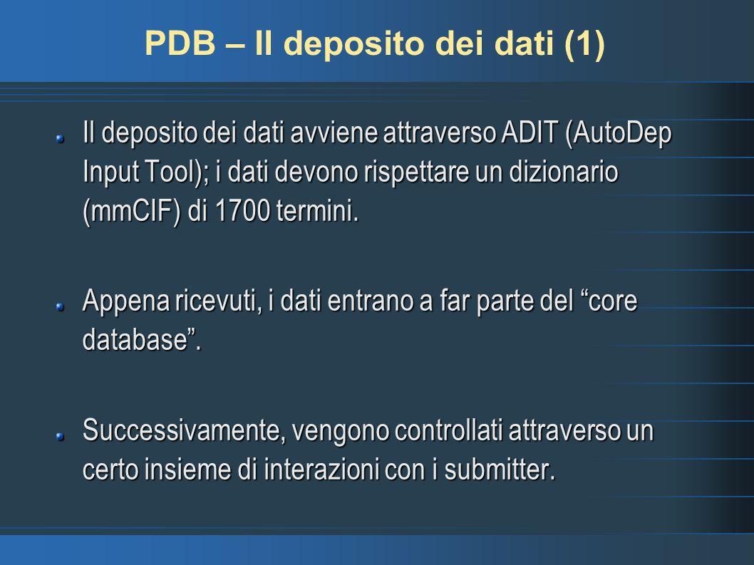 PDB – Il deposito dei dati (1)