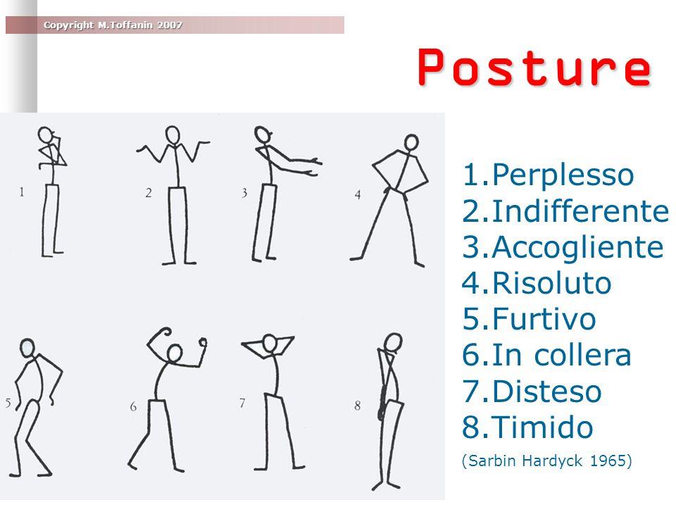 Posture Perplesso Indifferente Accogliente Risoluto Furtivo In collera