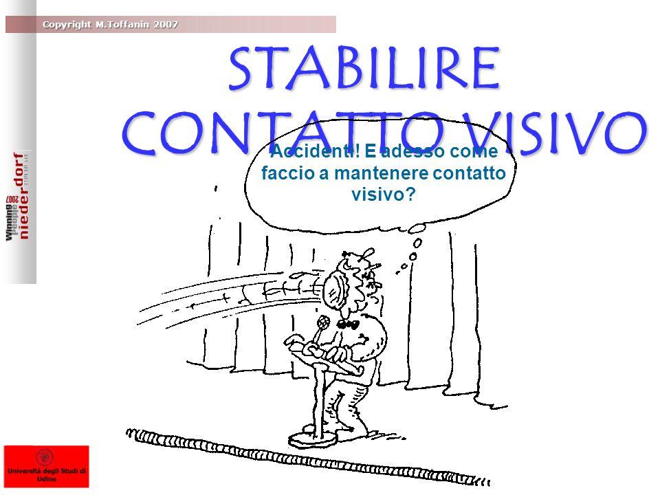 STABILIRE CONTATTO VISIVO