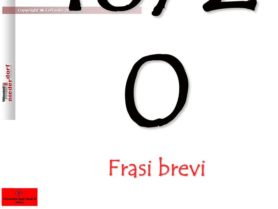 18/20 Frasi brevi