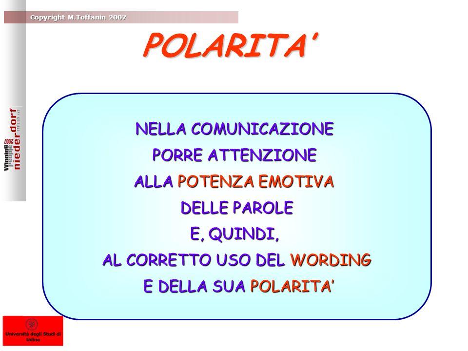 AL CORRETTO USO DEL WORDING