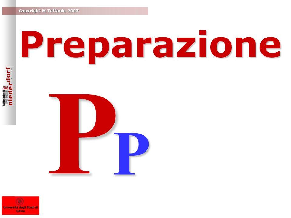 P P Preparazione Proper planning prevents poor public presentation