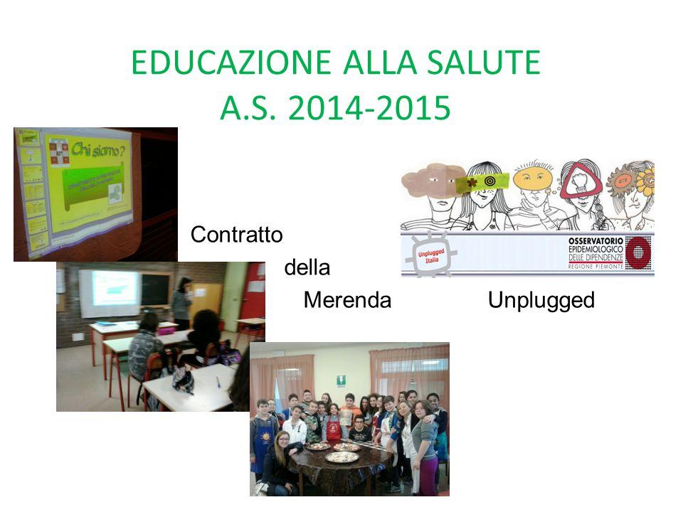 EDUCAZIONE ALLA SALUTE A.S. 2014-2015