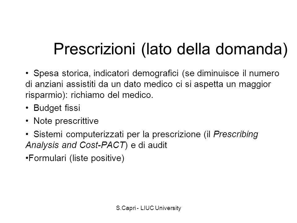 Prescrizioni (lato della domanda)