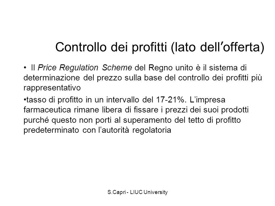 Controllo dei profitti (lato dell'offerta)