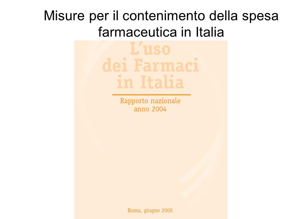 Misure per il contenimento della spesa farmaceutica in Italia