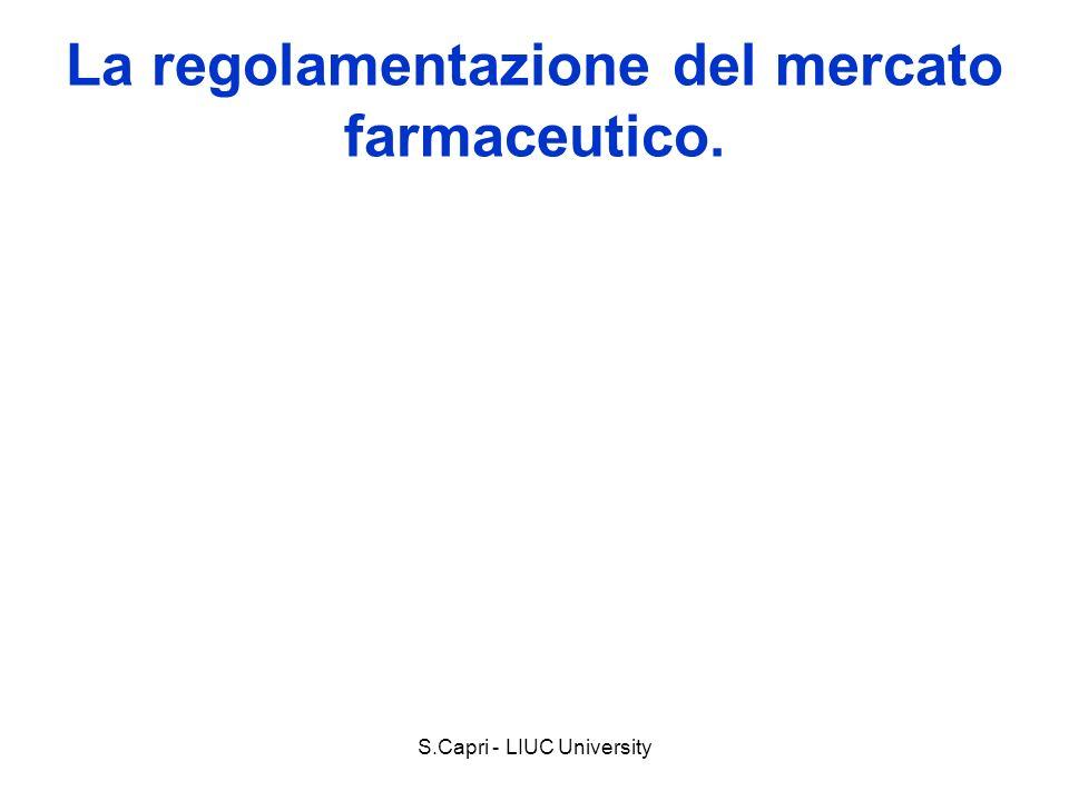 La regolamentazione del mercato farmaceutico.