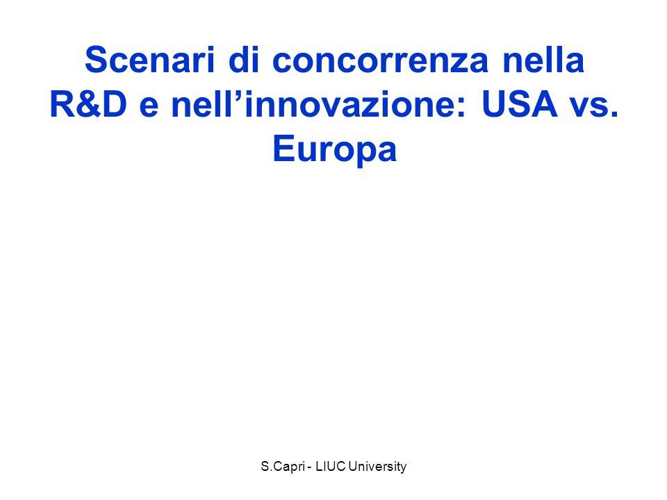 Scenari di concorrenza nella R&D e nell'innovazione: USA vs. Europa