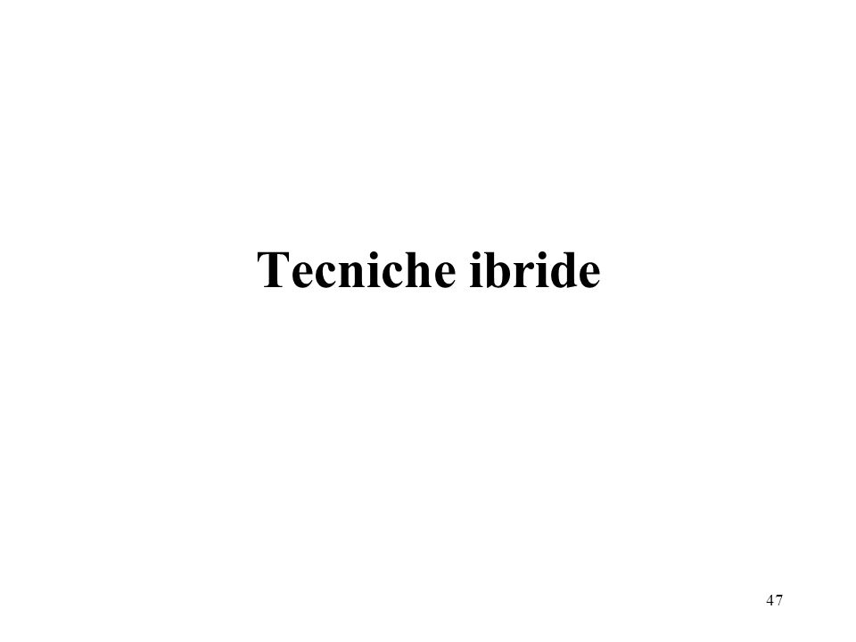 Tecniche ibride