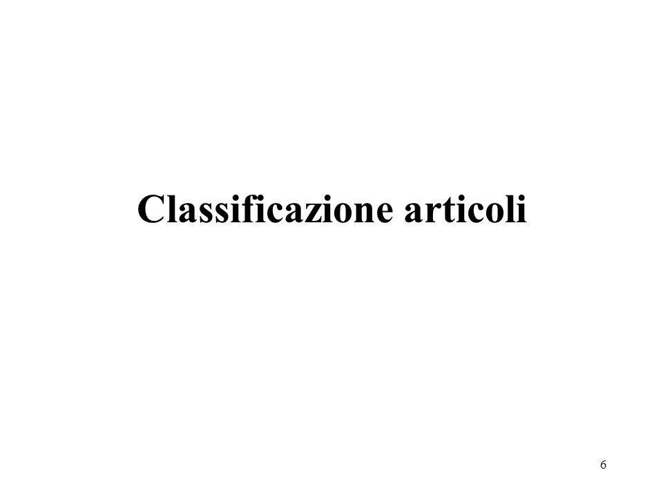 Classificazione articoli